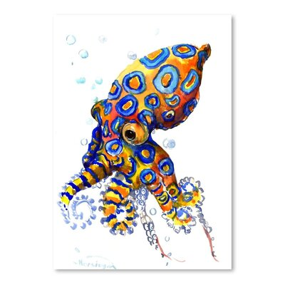 Americanflat Blue Spoted Octopus Art Print