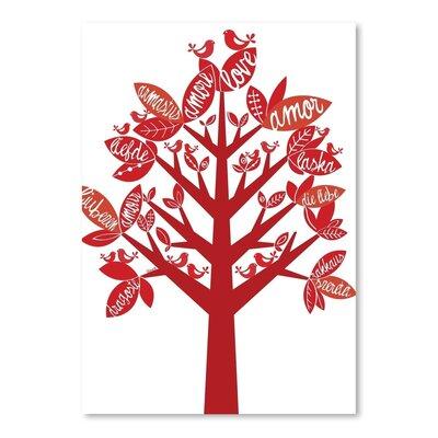 Americanflat Love Tree Graphic Art