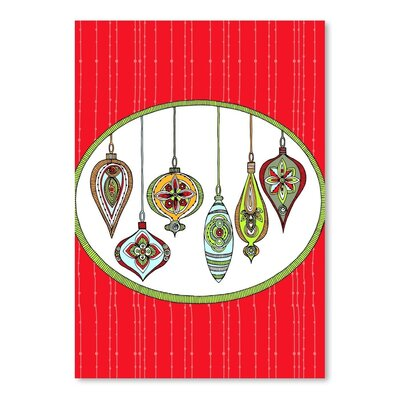 Americanflat Ornaments Graphic Art Wrapped on Canvas