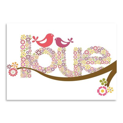 Americanflat Sweet Love Graphic Art Wrapped on Canvas