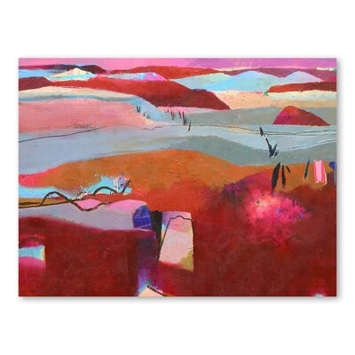 Americanflat Moroccan Hills Art Print Wrapped on Canvas