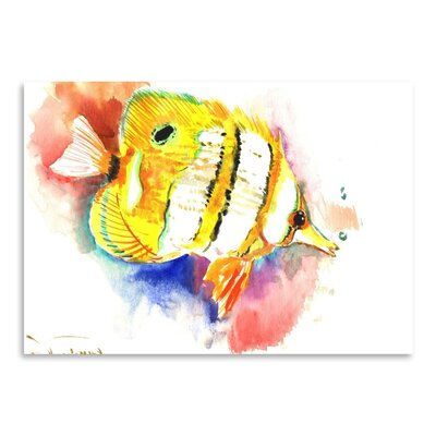 Americanflat Copperhead Angelfish by Suren Nersisyan Art Print