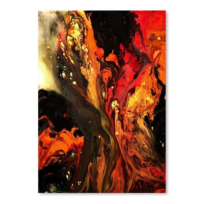 Americanflat Burning Desire Art Print Wrapped on Canvas