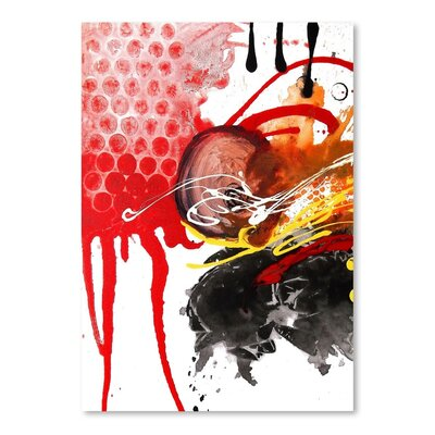 Americanflat Chaos B Art Print Wrapped on Canvas