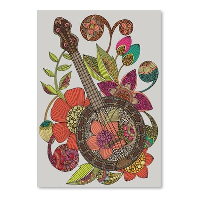 Americanflat Ever Banjo Graphic Art Wrapped on Canvas