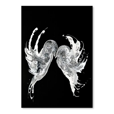 Americanflat Embrace Art Print Wrapped on Canvas