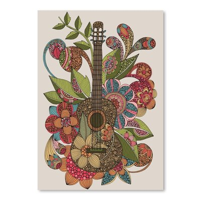 Americanflat Ever Guitar Graphic Art Wrapped on Canvas