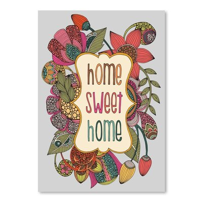 Americanflat Home Sweet Home Graphic Art Wrapped on Canvas