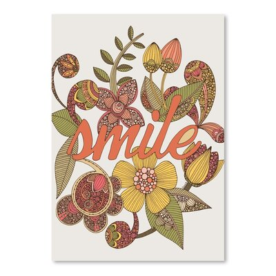 Americanflat Smile Graphic Art Wrapped on Canvas