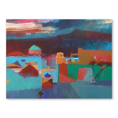 Americanflat Rain in the Atlas Mountains Art Print Wrapped on Canvas