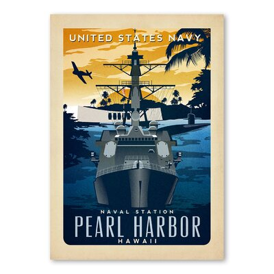 Americanflat Pearl Harbor Vintage Advertisement Wrapped on Canvas