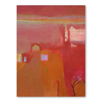 Americanflat Rajasthan Dawn Art Print Wrapped on Canvas