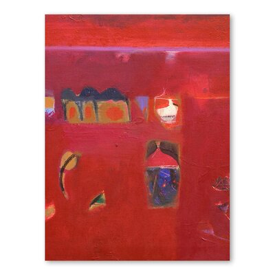 Americanflat Rajasthan Reds II Art Print Wrapped on Canvas