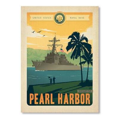Americanflat Pearl Harbor 2 Vintage Advertisement Wrapped on Canvas