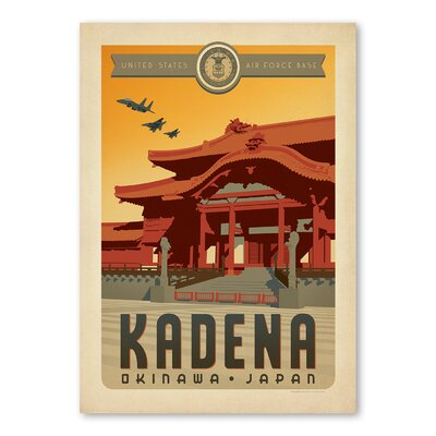 Americanflat Kadena Vintage Advertisement Wrapped on Canvas