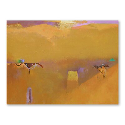 Americanflat Saharan Art Print Wrapped on Canvas