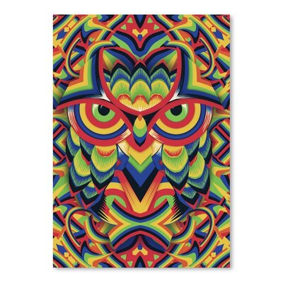 Americanflat Owl 3 Graphic Art