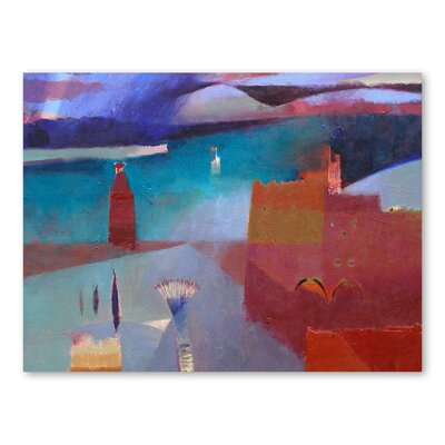 Americanflat Shafts of Atlas Light Art Print Wrapped on Canvas