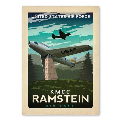 Americanflat KMCC Ramstein Vintage Advertisement
