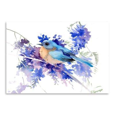 Americanflat Eastern Bluebird by Suren Nersisyan Art Print