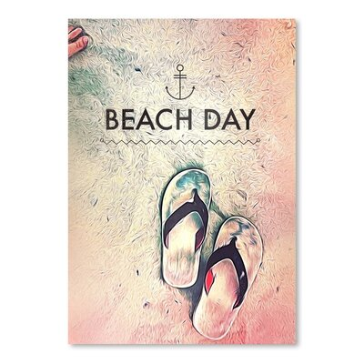 Americanflat Beach Day Poster Vintage Advertisement