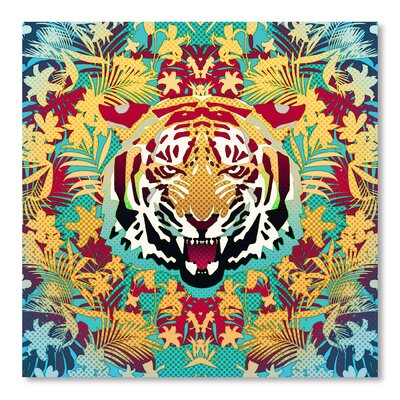 Americanflat Tiger 2 Square Graphic Art