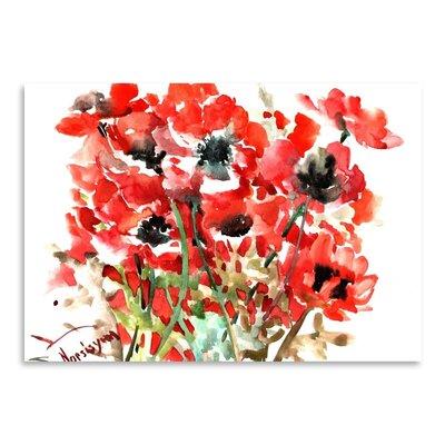 Americanflat Anemones Art Print