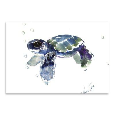Americanflat Babe Sea Turtle by Suren Nersisyan Art Print