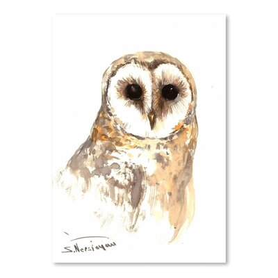 Americanflat Barn Owl by Suren Nersisyan Art Print