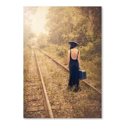Americanflat Girl on Tracks Photographic Print