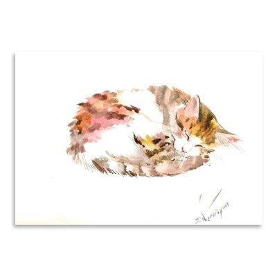 Americanflat Resting Cat Art Print