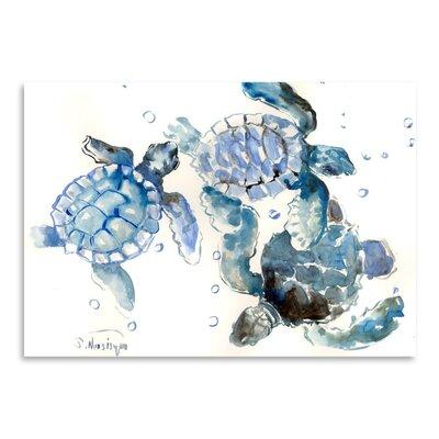Americanflat Sea Turtles Art Print
