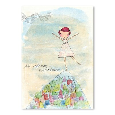 Americanflat Camille Colouring in Book Art Print Wrapped on Canvas