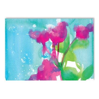 Americanflat Flowers Art Print Wrapped on Canvas