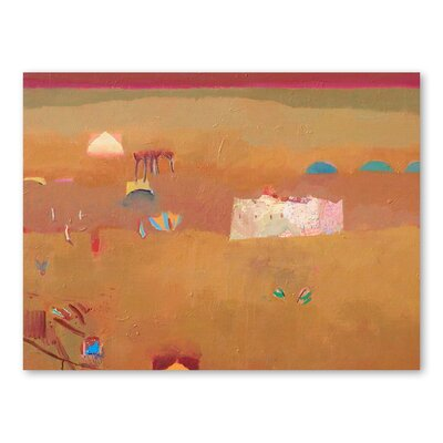 Americanflat Ancient Kasbah Art Print Wrapped on Canvas