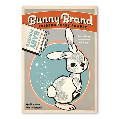 Americanflat Bunny Brand Baby Powder 1 Vintage Advertisement