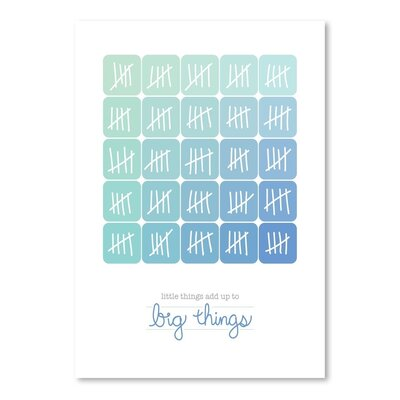 Americanflat Little Things Blue Collage Graphic Art Wrapped on Canvas