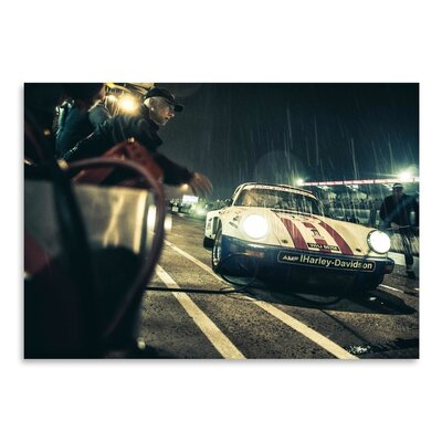 Americanflat Harley Davidson Photographic Print Wrapped on Canvas