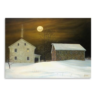 Americanflat Millers Moon Photographic Print Wrapped on Canvas