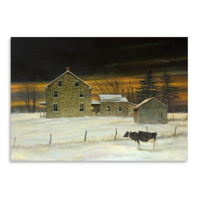 Americanflat King Wood Sunset Art Print Wrapped on Canvas