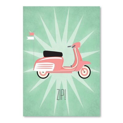 Americanflat Vintage Scooter 2 Graphic Art