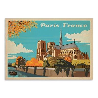 Americanflat WT Paris Notre Dame Vintage Advertisement