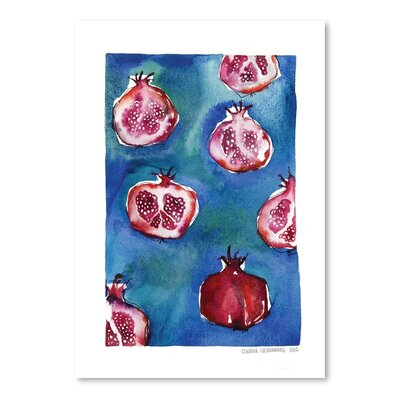 Americanflat Pattern Pomegranate Art Print Wrapped on Canvas