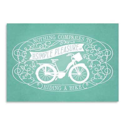 Americanflat Vintage bicycle2 Graphic Art Wrapped on Canvas