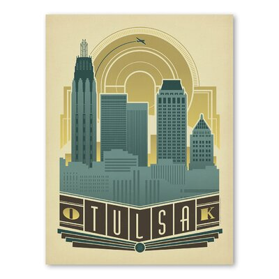 Americanflat Asa Tulsa Decoskyline Vintage Advertisement Wrapped on Canvas