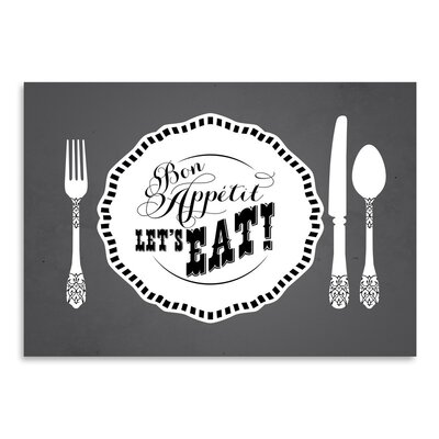 Americanflat Kitchen Bar Bonappetit Graphic Art Wrapped on Canvas