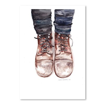 Americanflat Dusty Boots Art Print Wrapped on Canvas