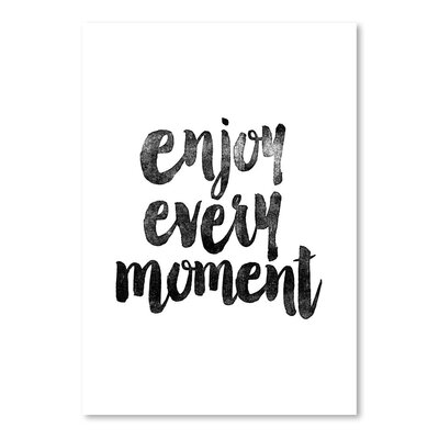 Americanflat Enjoy Every Moment Typography Wrapped on Canvas