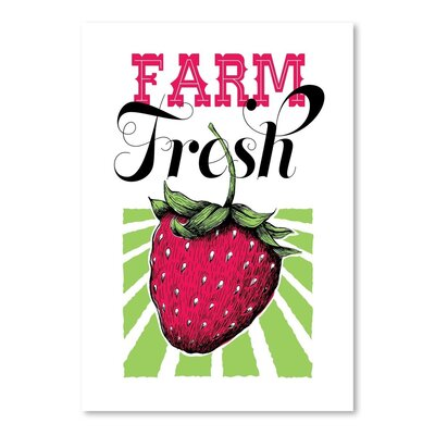 Americanflat Fruit Strawberry Graphic Art Wrapped on Canvas