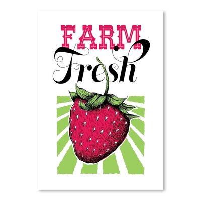 Americanflat Fruit Strawberry Vintage Advertisement